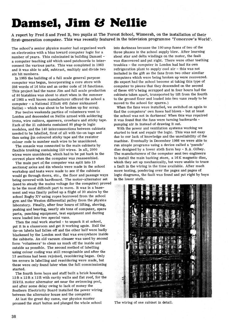 Icl40 History Of Computergeneration Computer Try To Educate This Article Is From Education June 1969